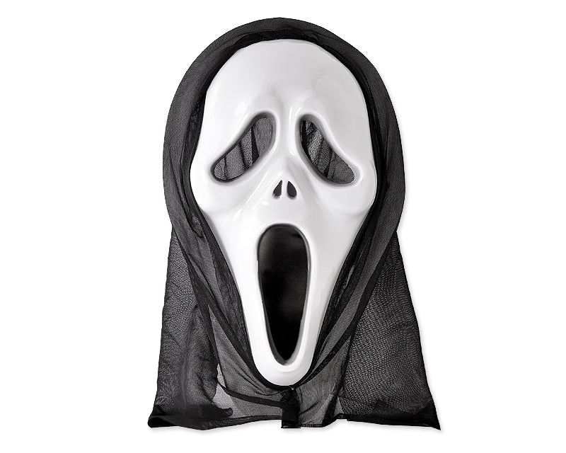 Halloween Party Masquerade Horror Scary Mask w/ Shroud - Ghost