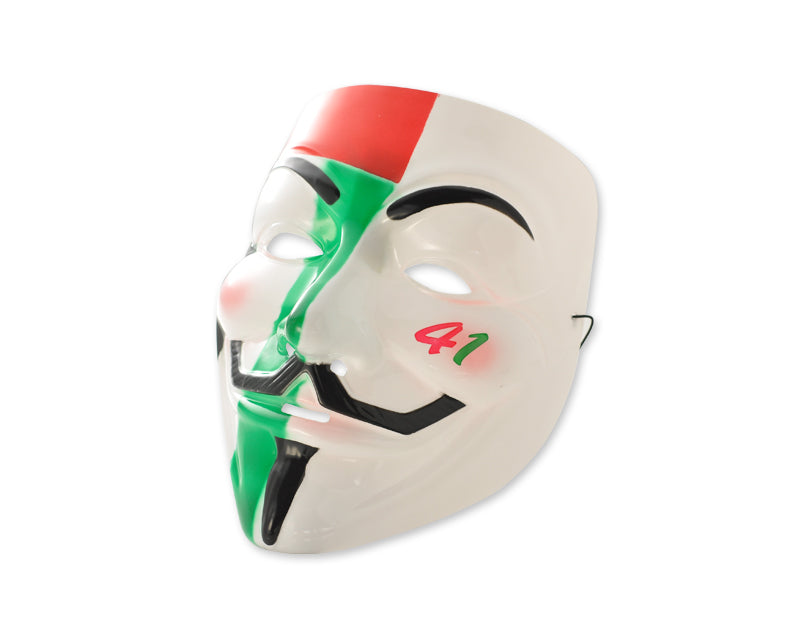 Halloween Party V Face Vendetta Anonymous Scary Mask - Multicolor