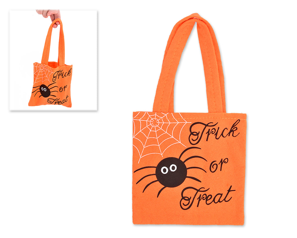 Halloween 2016 Costumes Trick or Treat Spider Tote Handbag - Orange