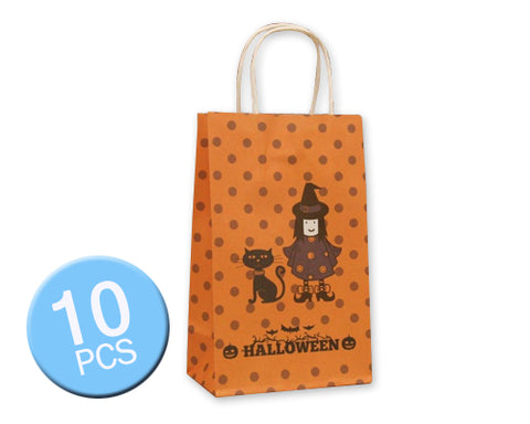 10 Pcs Halloween 2016 Party Favor Paper Gift Bags - Witch and Cat