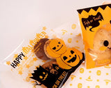 100 Pcs Halloween Party Accessory Cookie Candy Gift Treat Bag -Pumpkin