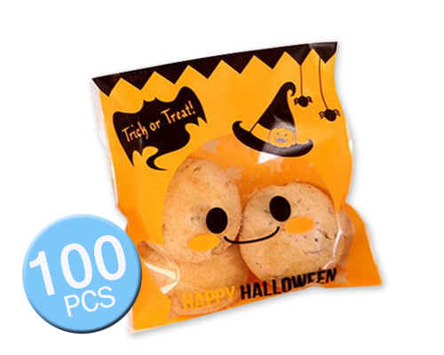 100 Pcs Halloween Party Accessory Cookie Candy Gift Treat Bag - Witch