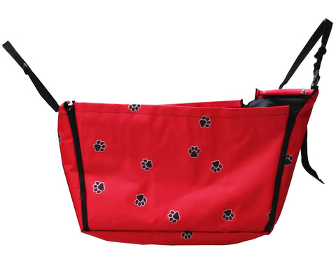 Safe Series Dog Car Hammock Seat Cover for Pets - Dog Print