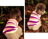 Vintage Striped Pet Dog Custom Turtleneck Sweater