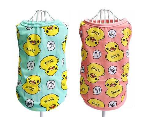 Cute Duck Series Dog T-Shirt Pet Clothes