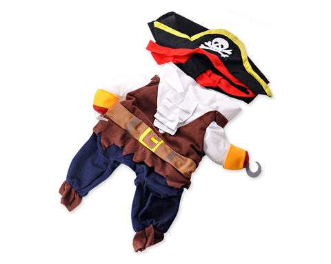 Caribbean Pirate Style Pet Clothes Dog Costume with Hat