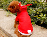 Animal Series Lovely Bunny Dog Winter Coat Pet Costume - Red