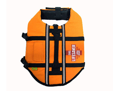 Pet Dog Life Jacket Vest with Adjustable Belt - Orange