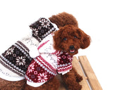 Snowflake Print Pet Dog Clothes Winter Coat with Hood