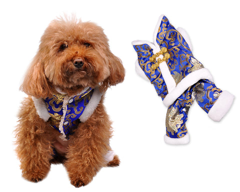 Chinese Traditional Style Clothes Dog Costume