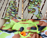 Camouflage Waterproof Dog Raincoat Poncho - Green