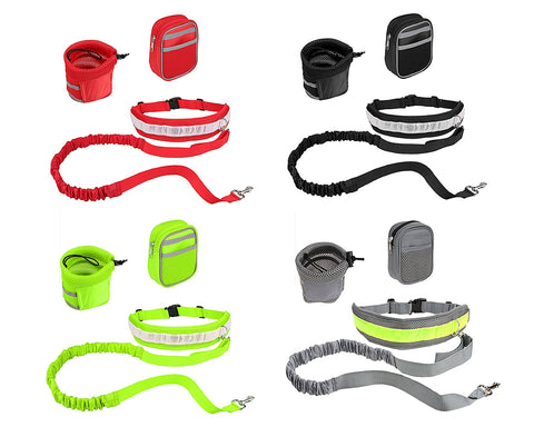 Walk the Dog Hands Free Dog Leash Set with Waist Belt and Pouch