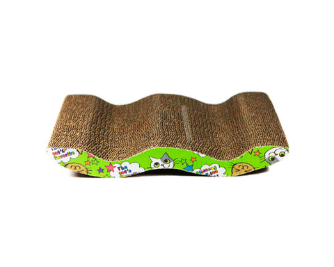 Corrugated Cardboard Cat Scratcher Board with Catnip