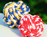 5 Pcs Woven Cotton Rope Knots Pet Chew Toy