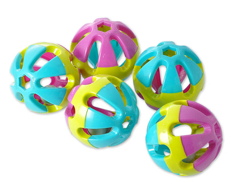 5 Pcs Three-Color Plastic Rolling Pet Ball