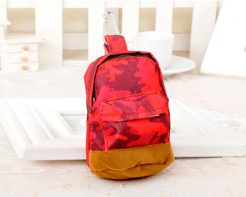 Multifuntional Mini Backpack Coin Purse - Red Camo