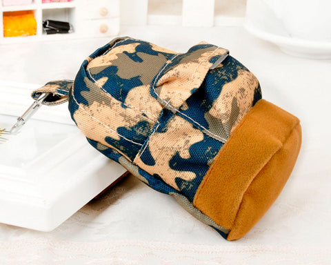 Multifuntional Mini Backpack Coin Purse - Green Camo