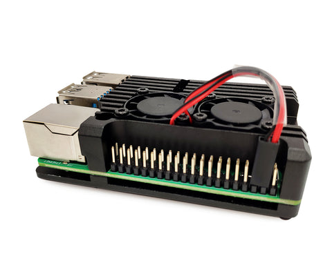 Heatsink Metal Case with Dual Fans for Raspberry Pi 4