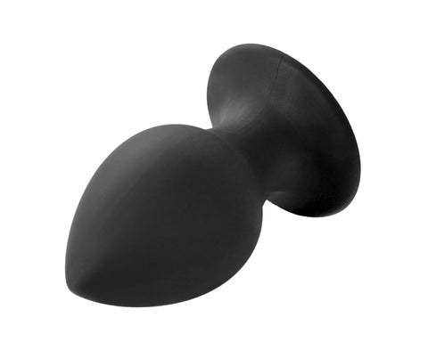 Adult Sex Toy Unisex Black Silicone Anal Butt Plug