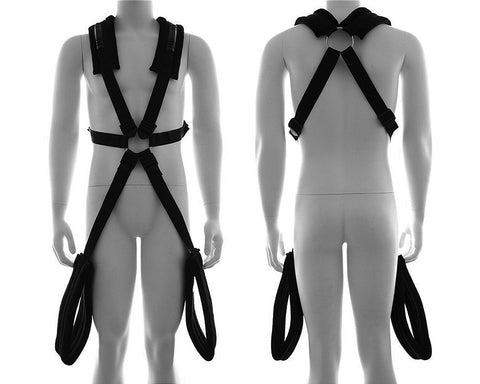 Sexy Fantasy Adjustable Shoulder Straps Bondage Sex Swing