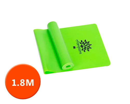1.8M Multi Gym Sports Equipment Latex Yoga Belt Stretch - Green