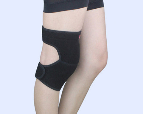 1Pc Elastic Thick Sponge Knee Pad - Black