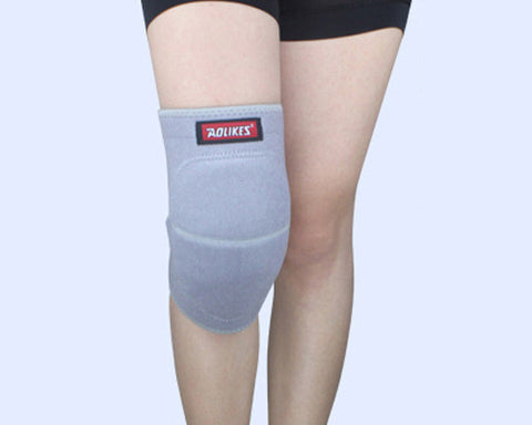 1Pc Elastic Thick Sponge Knee Pad - Grey