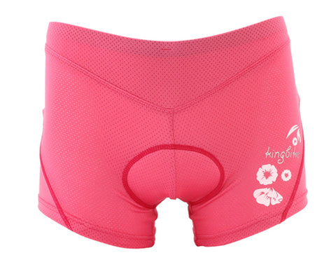3D Sponge Cycling Underwear Shorts Pants - Pink