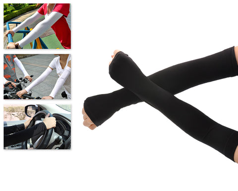 1 Pair Sports Outdoor Sun UV Protection Cooling Arm Sleeves