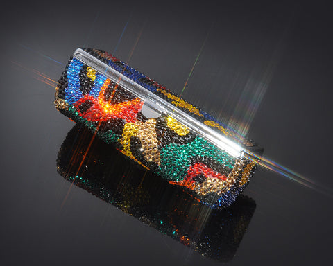 Classical Swarovski Crystal Lipstick Case With Mirror