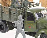 2 Pcs Military Combat Vehicle Models with Soldiers