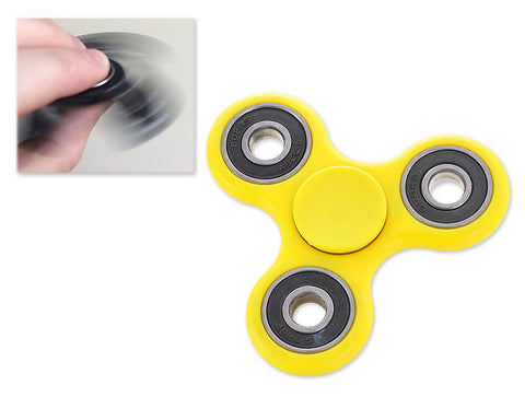 High Speed EDC Spinner Tri Bar Fidget Toy - Yellow
