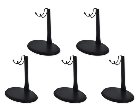 1/6 Figure Stand 5 Pcs 1:6 Action Figure Holder Display Stand - Black