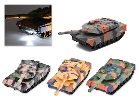 Alloy Camouflage Tank Toy Model with Sound and Light