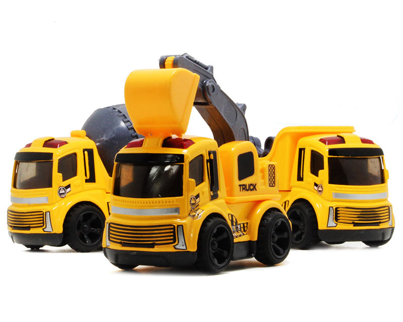 3 Pcs Construction Machine Alloy Toy Car Model