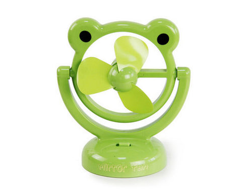 180 Degree Rotation Rechargeable Desktop USB Mini Cooling Fan - Frog