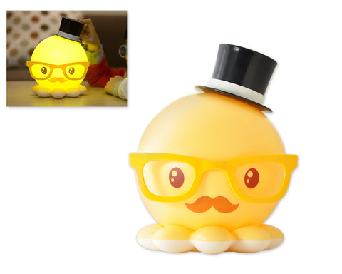 Cute Octopus USB Rechargeable LED Night Light for Children - Yellow