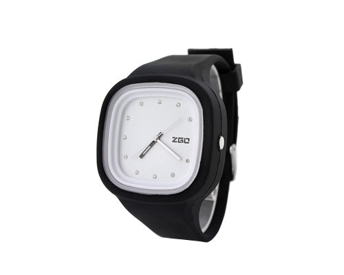 ZGO Fashion Crystal Jelly Silicone Sports Analog Unisex Watch
