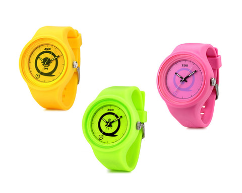 ZGO Fashion Water Resistant Noctilucent Silicone Sports Watch
