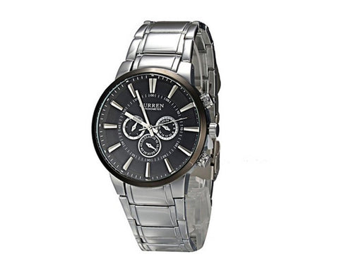 CURREN Stainless Steel Band Men Analog Quartz Wrist Watch