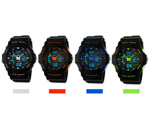 SKMEI Water Resistant Digital Analog Chronograph Sports Watch