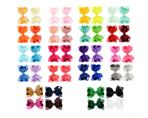Hair Bow Clips 40 Pieces 3 Inches Alligator Clips for Kids