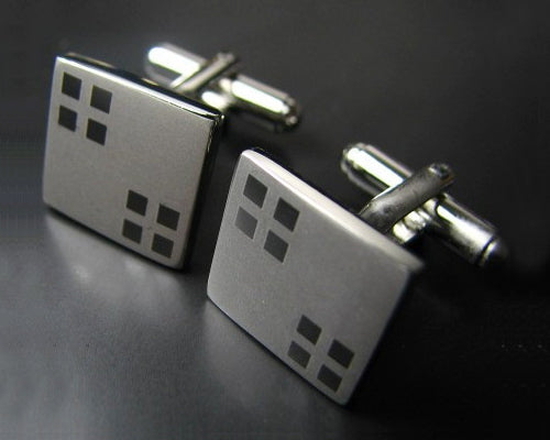 Wedding Groom Square Shirt Cufflinks for Men Cuff links - Matt