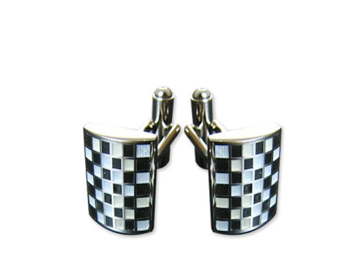 Wedding Groom Square Shirt Cufflinks for Men - Twinkle Lattice