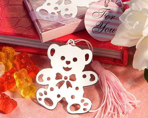 Bear Pink Wedding Favors Bookmark