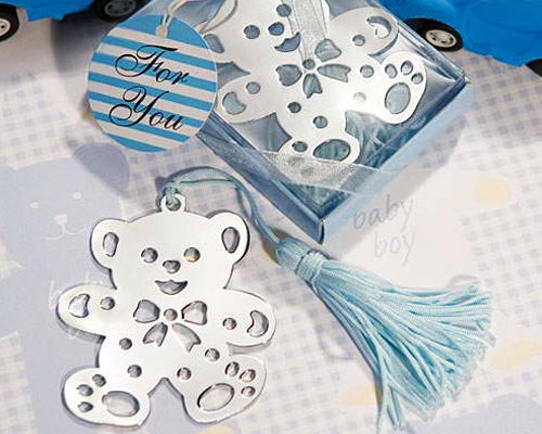 Bear Blue Wedding Favors Bookmark
