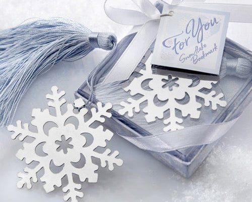 Snowflake Wedding Favors Bookmark