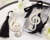 Musical Note Wedding Favors Bookmark