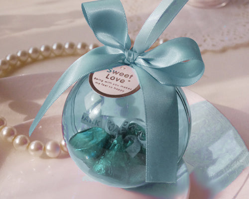Romantic Ball Wedding Favor Boxes - Blue