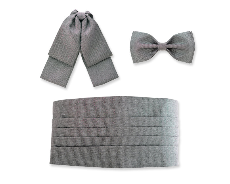Handcrafted Solid Bow Ties and Cummerbund Set
